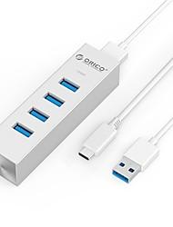 Orico ash4-u3 серебристый usb3.0 концентратор 4-проводный светодиодный индикатор с кабелем 100 см