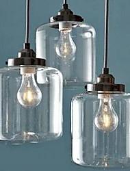 Подвесные лампы ,  Современный Другое Особенность for Защите для глаз Стекло Гостиная В помещении 3 луковицы
