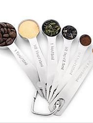 Stainless Steel Spoon (6 WoollySeasoning Scoop Baking Calibration Measurement Seasoning Keys Circular Spoon Color Box