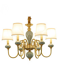 Chandelier   Traditional/Classic Country Brass Feature for LED Mini Style Metal Living Room Bedroom Dining Room Study Room/Office 6 Bulbs