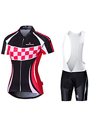 Camisa com Bermuda Bretelle Mulheres Manga Curta Moto Shorts Acolchoados Tights Bib Camisa/Roupas Para Esporte Secagem Rápida Design