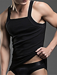 Men's Sports Casual/Daily Simple All Seasons Summer Tank Top,Solid Boat Neck Sleeveless Cotton Polyester Medium