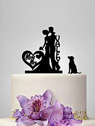 Decorações de Bolo Casal Clássico Casamento Tema Clássico Romance Casamento Bolsa Poly
