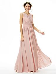 2017 LAN TING BRIDE Floor-length Jewel Bridesmaid Dress - Elegant Sleeveless Chiffon