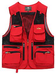 Hombre Chaleco para senderismo Impermeable Transpirable Chaqueta Tops para Camping y senderismo Pesca Verano XXL XXXL XXXXL 4XL 5XL
