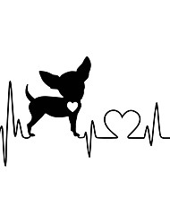 Wall Stickers Wall Decas Style Dog Ecg PVC Wall Stickers