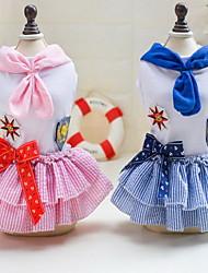 Autre Robe Vêtements pour Chien Mignon Décontracté / Quotidien Mariage Princesse Bleu Rose