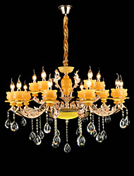 Chandelier ,  Traditional/Classic Zinc Alloy Feature for Crystal Mini Style Metal Indoors Indoor Hallway 15 Bulbs