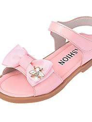 Girls' Sandals Party Casual  Summer Fall Casual Casual/Daily Walking Flower Flat Heel Blushing Pink Gray Black Under 1in