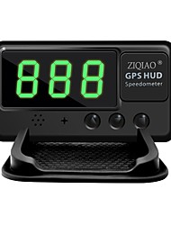 ZIQIAO Universal Car HUD GPS Speedometer Head UP Display Windshield Digital Car Speed Projector Overspeed Alarm For All Vehicle