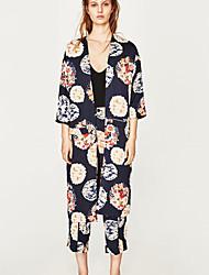 Manteau Femme,Imprimé Décontracté Vêtements de Plein Air Irrégulier Décontracté Printemps/Automne Col en V Longue Autres