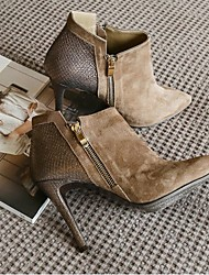 Damen Stiefel Komfort PU Frühling Lässig Khaki 5 - 7 cm