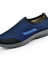 Masculino Mocassins e Slip-Ons Conforto Tule Primavera Casual Cinzento Azul Marinho Azul Real Rasteiro