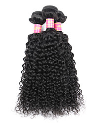 3 Bundles Brazilian Virgin Remy Hair Kinky Curly Human Hair Weave Extensions 300g