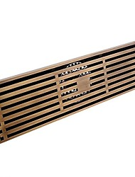 Linear Floor Shower Drain Antique Bronze 30cm