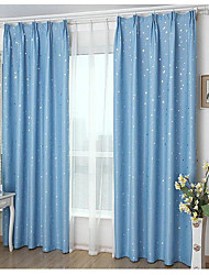 One Panel Summer StyleFashion Window Curtains Solid Finished products Blackout Curtains for Dining Room/Kitchen Stars Blue