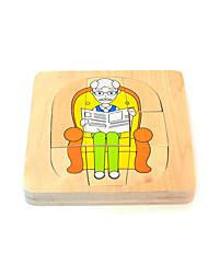 Пазлы Деревянные пазлы Строительные блоки Игрушки своими руками Квадратная Дерево Хобби и досуг