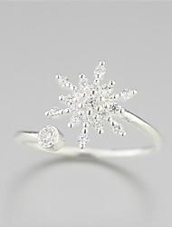 925 чистого серебра тающий снег снег цветок свежие моды открытие кольцо