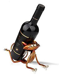 Yoga Cat Metal Figurine Craft Wine Holder Wine Shelf Animal Figurine 3D Art Wine Rack For Wine Bottle Office Home Decor