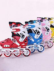 Kid's Girls Boys Inline Skates Anti-Shake/Damping Breathable Adjustable Protective ABEC-9 - Yellow/Ruby/Blue/Blushing Pink