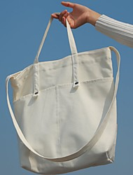 Women's Shoulder Bag Canvas All Seasons Casual Shopper Magnetic White