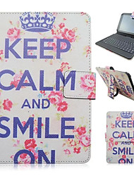 For iPad Case with Keyboard USB English Version 9-10.5 inch Universal Word /Phrase Flower PU leather For iPad Pro 10.5 iPad (2017) Pro9.7 Air Air2