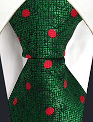 CXL5 Unique Extra Long  Mens Ties Green Red Dots 100% Silk Business New Jacquard Woven For Men