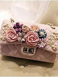 Women Shoulder Bag PU All Seasons Flap Magnetic Blushing Pink Black White