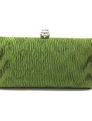 Вечерняя сумочка Деним Замок с защелкой Синий Цвет шампанского Черный Зеленый