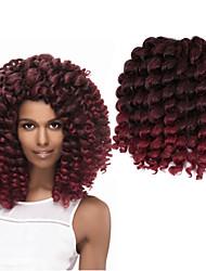 Pre-петлевые вязания крючком плетенки Гавана Вязаные Кудрявый Надувной Curl Deep Twist Ямайские отскоки волос КитайТемно-рыжий Черный /