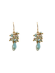 Fashion Women Crystal Beads Drop Earrings