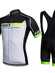 Fastcute Cycling Jersey with Bib Shorts Bike Bib Shorts Jacket Shorts Shirt Sweatshirt Jersey Jersey + Shorts Jersey + Bib Shorts Tops