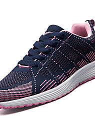 Women's Athletic Shoes PU Spring Summer Low Heel Black Gray Ruby Blue Blushing Pink Under 1in