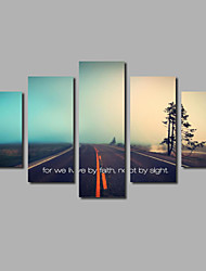 5 Piece Art Inspirational Quotes Canvas Modular Paintings For The Hall Living Room Decor Modern Lettering Art Printings Unframed