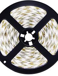 HKV® 1PCS 4014 SMD 5M 600LED LED Strip Waterproof LED Ribbon LED Tape Light Cool White Warm White Super Bright Than  DC 12V