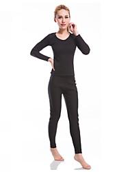Mujer Camiseta de running con pantalones Manga Larga Gimnasio, Correr & Yoga Sets de Prendas para Yoga Jogging Ejercicio y Fitness Fitness