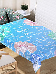 Simple Japanese Plant Rectangle Cotton And Linen Table Cloth 60*60cm