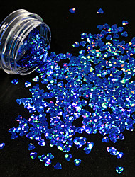 1g/Bottle Nail DIY Lovely Heart Shape Design Noble Blue Nail Art Starry Glitter Sequins Sparkling 3D Decoration Paillette 1401W