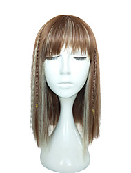 Fashion Women Long Straight Wig Blonde Synthetic Wig With Braid