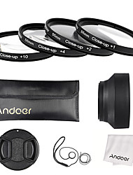 Andoer 55mm Close-up Macro Lens Filter Set(1 2 4 10) with Lens Accessories