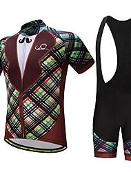 Camisa com Bermuda Bretelle Homens Moto Conjuntos de Roupas Ventilação Secagem Rápida Bolso Traseiro Primavera/Outono Verão Ciclismo/Moto