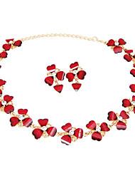 Mujer Juego de Joyas Los sistemas nupciales de la joyería Collar / pendientes Cristal Cosecha Euramerican Clásico Moda ResinaForma de