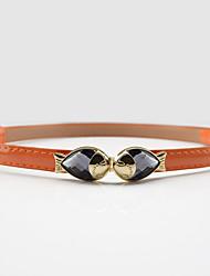 Mujer Metálico Brillante Sexy Cinturón Vestido Aleación Otros Hebilla,Sólido