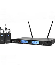 UHF Professional Karaoke Wireless Microphone System With Lapelr Collar Clip Mic