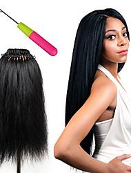 18'' Pre loop synthetic hairpre braided crochet braids Human feeling Synthetic Braiding Hair black women Straight hair twist
