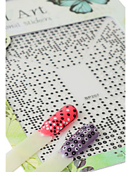 1pcs Fashion Black White Round Dot DIY Design Nail Art 3D Sticker Lovely Decoration BP207