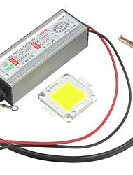 1pc высокая мощность 100 Вт привели smd чип лампа с водонепроницаемым драйвером питания