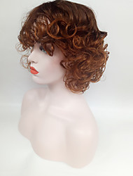 African Brown Blonde Wig Fashion Style High Temperature Wire Middle Length Curly Hair Wig