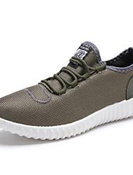 Herren Sneaker Komfort Leuchtende Sohlen Tüll Frühling Sommer Normal Walking Komfort Leuchtende Sohlen Flacher AbsatzSchwarz Grau