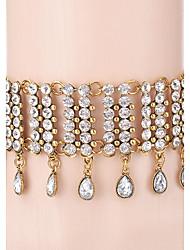 Mujer Gargantillas Collares con colgantes Strands Collares Cristal Brillante LegierungDiseño Único Diamantes Sintéticos Amistad Gótico